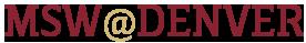 MSW@Denver Logo