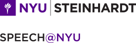 NYU Steinhardt: Speech@NYU homepage