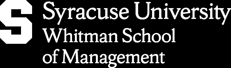 Martin J. Whitman School of Management Syracuse University Logoheader